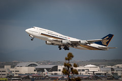 Singapore Airlines Boeing 747-400 9V-SPG LAX Departure - 1 (Zaid Al-Ahmar) Tags: boeing747400 departure lax singaporeairlines