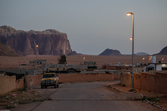 The desert and the village (Vagabundina) Tags: desert jordan middleeast wadirum village settlement car street landscape scenery moment culture atmosphere mountain sunset goldenhour scene nikon nikond5300 dsrl