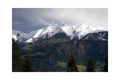 Wanderschuhe oder Schneeschuhe? (balu51) Tags: landschaft berge schnee wolken regen abendlicht grau grün signina surselva graubünden mai 2019 copyrightbybalu51
