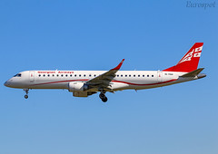 4L-TGH Embraer 190 Georgian Airways (@Eurospot) Tags: 4ltgh embraer emb190 georgian lebl barcelona
