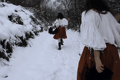(Nynewe) Tags: fairy tales fae nynewe michaela knizova red skirt dress folk costume myth feminine woman self selfportrait romanticism poetic old visual tender frail snow winter cold run