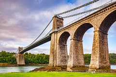Menai Bridge, Anglesey (photonorthwales) Tags: menai bridge straits anglesey mona wales welsh bridges icon iconic touristattraction attractions scenic scenics victorian engineering britain british uk unitedkingdom
