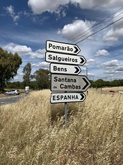 The Road To Spain (firehouse.ie) Tags: guadiananaturalpark directional directions espanha border countryside rural guadiana may2019 espana spain signposts signpost signs sign frontier easternportugal portugal