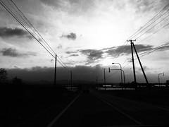 Windy, Dusty Day (sjrankin) Tags: 20may2019 edited grayscale kuriyama yuni wind clouds haze dust weather