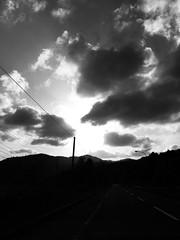 Windy, Dusty Day (sjrankin) Tags: 20may2019 edited yubari hokkaido japan grayscale wind clouds haze dust weather