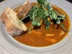 Catalan Fish Stew at Entrada Restaurant, Londonderry (John D McDonald) Tags: iphone appleiphone iphonexr appleiphonexr northernireland ni ulster geotagged derry londonderry derry~londonderry entrada entradaderry entradalondonderry food fishstew caalanfishstew sourdough
