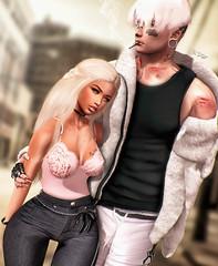 ◈№.700 - lead me♥ (Alica Jinx van Hell) Tags: ckey poses sl secondlife couple love cuddle lead me evani stealthic k9 kustom9 nanika together dubai event romp