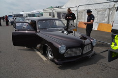 (Sam Tait) Tags: volvo amazon vintage retro classic car swedish estate v8 twin turbo doorslammers santa pod raceway england