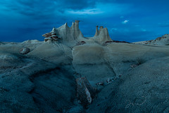 Magic Cretaceous Castle (J & W Photography) Tags: 2019 april earlysummer jwphotography may newmexico spring thecastle badlands bluehour desert dusk hoodoo landscape nature photography rocks southwest sunset wildflowers wildnessstudyarea
