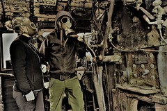 Fallout Steam Engine Train ☢️ (Bo Ragnarsson) Tags: steamlocomotive steampunk gasmask gasmaskselfie fallout stalker rusty urbanexploring urbanexploration urbex gasmaskgirl military nbc postapocalyptic postnuclear postwar apocalypsedeacadence apocalypse radiation biohazard boragnarssonphotography chernobylite