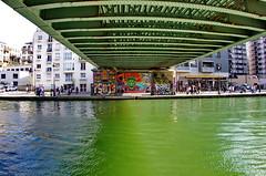 531 Paris en Mars 2019 - sous le Pont de la rue de l'Ourcq, Quai de l'Oise le long du canal de l'Ourcq à La Villette (paspog) Tags: paris france canal mars march märz 2019 canaldelourcq ourcq pont bridge brücke ruedelourcq quaideloise