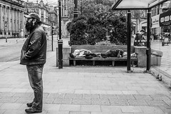 Sleepingrough (Jamart 2010) Tags: sheffield street strangers people faces facade smiles eyes streets family friends workers cities urban spaces places church river village