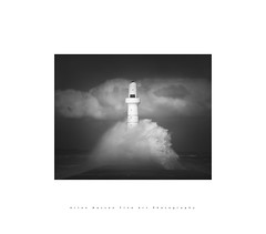Wave of Light.. (LoneWolfA7ii) Tags: art aberdeen architecture bw black blackandwhite clouds coast harbour sky uk light lighthouse monochrome mono outdoors outside sony scotland sea seascape shore tide torry visitscotland view water white waves weather