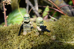 Troopers in the Gardens. (Working hard for high quality.) Tags: wars star lego troopers clone grass garden scene