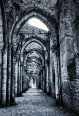 san galgano (lotti roberto) Tags: sangalgano toscana valdorcia architettura architecture abbey abbazia xpro2 bw tuscany italy italia wall