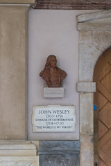 John Wesley (Spannarama) Tags: soundunbound musicfestival barbican london uk charterhouse johnwesley bust plaque door doorway