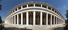 Stoa of Attalos (josullivan.59) Tags: wallpaper white evening europe travel urban outside outdoor architecture day detail downtown geometric greece historical clear blue minimalism archeological athens 2019 may panorama