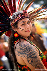 Balboa Park Pow Wow 2019 (Sam Antonio Photography) Tags: ink tattoo female woman smile mexico culture tradition dance aztec holiday costume mexican decoration colorful dancer plumes ancient celebration aztecdances culturalroots portrait indian beautiful feathers headdress native travel ceremonial headgear latin hispanicculture traditionalclothing performance traditionaldress traditionaldance latinamericanandhispanicethnicity mexicanethnicity latinamericanculture mexicantradition powwow pow wow