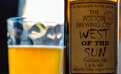 Close Up - Label  - Bottle of West of the Sun ( Golden Ale) Potton Brewery (Cropped High Res Shot) (Panasonic S1 & Lumix S 24-105mm f4 Zoom) (1 of 1) (markdbaynham) Tags: beer birra ale bottle goldenale cerveza craftbeer glass 24105mm 24105mmf4 lumix lumixer panasonic panasoniclumix s1 lumixs1 dmc panasonics1 mirrorless fullframe ff fullframemirrorless mirrorlessfullframe panasonicfullframe panasonicff digitalfullframe 24mp evil csc pottonbrewery drink