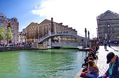 532 Paris en Mars 2019 -le Pont de la rue de Crimée sur le Canal de l'Ourcq (paspog) Tags: paris france canal mars march märz canaldelourcq pont bridge brücke