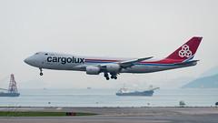 LX-VCK - Cargolux - Boeing 747-8R7F (bcavpics) Tags: lxvck cargolux boeing 747 748f jumbo jet aviation aircraft freighter airplane plane hkg vhhh cheklapkok hongkong sar china bcpics