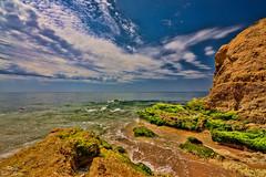 Sea landscape (Peideluo) Tags: beach sea landscape clouds seascape green rocks rocas mar agua paisaje nubes