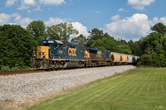 Geep on the Cartersville Turn (travisnewman100) Tags: csx train railroad rr freight manifest local wa subdivision western atlantic atlanta division acworth georgia emd ge gp382 es40dc a703 yn3