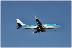 KLM Cityhopper PH-EXW. (PS_Bus_Driver) Tags: klmcityhopper phexw manchesterairport finalapproach egcc