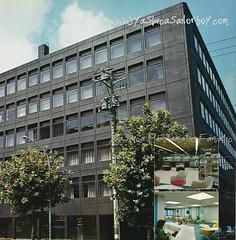 Yashica's New Headquarters - Shibuya 1974 (http://www.yashicasailorboy.com) Tags: yashica shibuyaku tokyo japan jingumae kyocera cameras 35mm headquarters building office honda meijidoriavenue 1974 summer harajuku