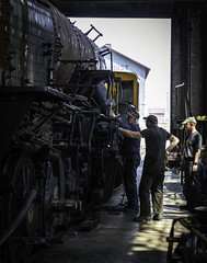 02469376422470-112-19-05-Working on the Train-1 (Don't Mess With Jim) Tags: america ely nevada nevadanorthernrailwaymuseum southwest usa whitepinecounty history locomotive museum rail steam train work people