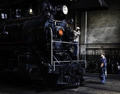 02469376422474-112-19-05-Working on the Train-5 (Don't Mess With Jim) Tags: america ely nevada nevadanorthernrailwaymuseum southwest usa whitepinecounty history locomotive museum rail steam people work train