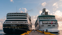 Cruise ships docked in Costa Maya (bvi4092) Tags: cruiseship cruise landscape sigma pier water outing nikon outdoor day6costamaya vehicle holiday sea mexico exterior general dock excursion d300s travel cloud sky photoshop architecture boat trip 18250mm harbour transport outside