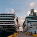 Cruise ships docked in Costa Maya