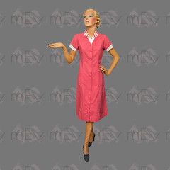 1930s Art Deco Waitress Diner Uniform by Angelica (Rickenbackerglory.) Tags: vintage 1930s siegel mannequin artdeco waitress diner uniform angelica