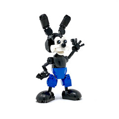 LEGO Oswald the Lucky Rabbit (Alex Kelley) Tags: lego disney moc oswald mickey minnie action figure toy design custom character cartoon