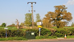Rural Power and Telephone Lines (standhisround) Tags: telegraphtuesday oxfordshire england powerlines telegraphpoles hedge countryside htt
