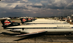 Heathrow 1974 (Julian Chilvers) Tags: uk london heathrow aircraft hawkersiddeley tridentthree britishairways