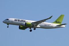 YL-AAR - LGW (B747GAL) Tags: air baltic airbus a220300 lgw gatwick egkk ylaar