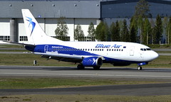 Blue Air YR-AMC, OSL ENGM Gardermoen (Inger Bjørndal Foss) Tags: yramc blueair boeing 737 osl engm gardermoen