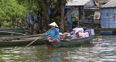 Tonle Sap Lake Market Boat (oldbourbonguy) Tags: cambodia siemreap chongkneasfloatingvillage siemreapprovince boat peddler woman