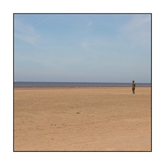 029/100X 2019 (neals pics) Tags: 100xthe2019edition 100x2019 image29100 my100x–squareformat beach coast coastal sand water sea seaside sculpture statue sky open space isolated lonely anthonygormley cosby mersyside uk iconic landmark