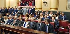 Senadores del Partidp Popular durante el Pleno de Constitución de la XIII Legislatura