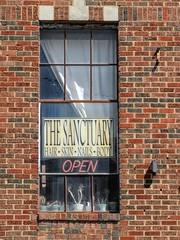 Sanctuary Window (clarkcg photography) Tags: window windowwednesday sanctuary open cactus panes brick