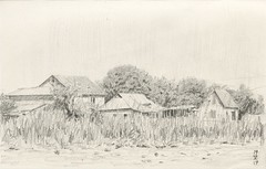 Ladder (Bohdan Tymo) Tags: pencil drawing sketch countryside