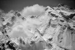 Rakaposhi, le mur de glace vu d'Aliabad (Photos de voyages, d'expéditions et de reportages) Tags: bernardgrua aliabad extérieur neige montagne glacier rakaposhi ghulmet gilgitbaltistan pakistan noiretblanc blackandwhite