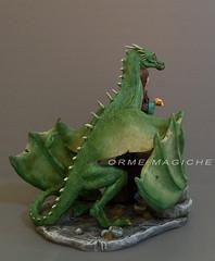Modellino personalizzato: ragazza con drago (Orme Magiche) Tags: statuina personalizzata statuinepersonalizzate caketopper modellini drago modellino fantasy donna magia