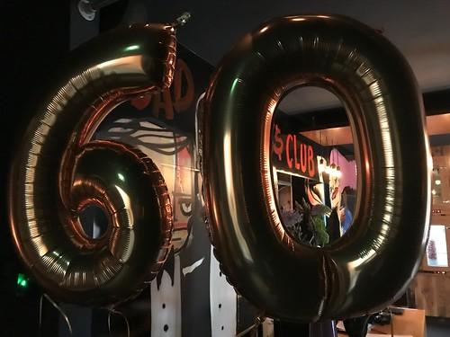 Folieballon Cijfer 60 The Harbourclub Rotterdam