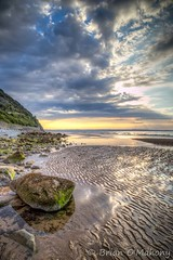 Where Two Worlds Collide (Brian O'Mahony) Tags: penmaenmawr beach brianomahony clouds canon6dmarkii canon north wales rocks thephotographiceeye horizon sand sea canon2470mmf4lis welsh landscape seaside seascape beautiful sunset water coast sky