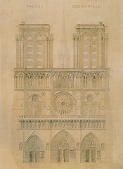 Notre Dame 01 (Chris Protopapas) Tags: paris violetleduc notredamedeparis notredame architecture drawing restoration facade gothic occidentale parti elevation iledelacite cathedral sculpture