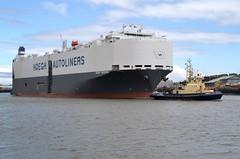 Hoegh Yokohama.. Tyne 210519 (silvermop) Tags: ship boats ships sea carcarriers vehiclecarriers port river tyne roro hoeghyokohama